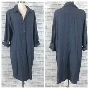 J Jill Denim Long Sleeve Dress